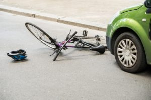 Bicycle After Accident On The Street